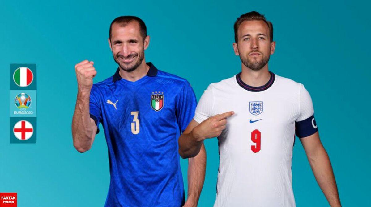 فینال یورو ۲۰۲۰؛ ترکیب تیمهای ملی فوتبال انگلیس و ایتالیا اعلام شد