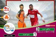 پیروزی پرگل سرخپوشان تبریزی مقابل سایپا و صعود موقت به رتبه دوم