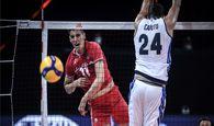 لیگ ملتهای والیبال  صابر بازهم ستاره ایران شد/ درخشش کاظمی مقابل ایتالیا