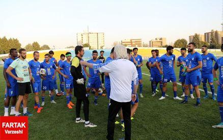 برگزاری آخرین تمرین استقلال پیش از رویارویی با السد