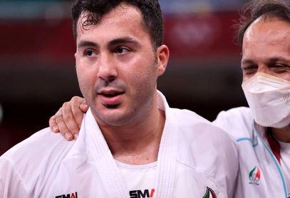 لحظه غرور آفرین حضور گنج زاده بر روی سکوی قهرمانی المپیک2020
