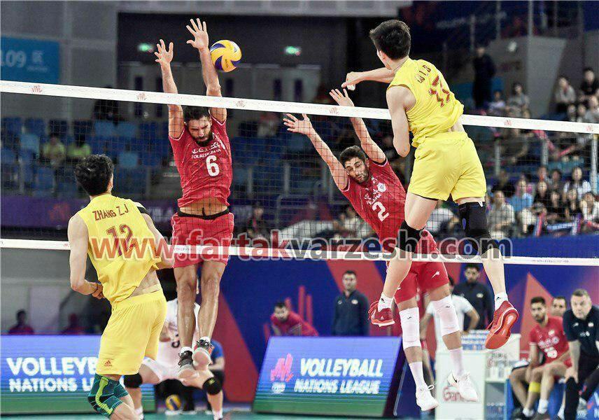 دومین پیروزی متوالی والیبالیست های ایران