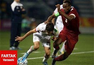 وقت کشی قطریها از نیمه اول