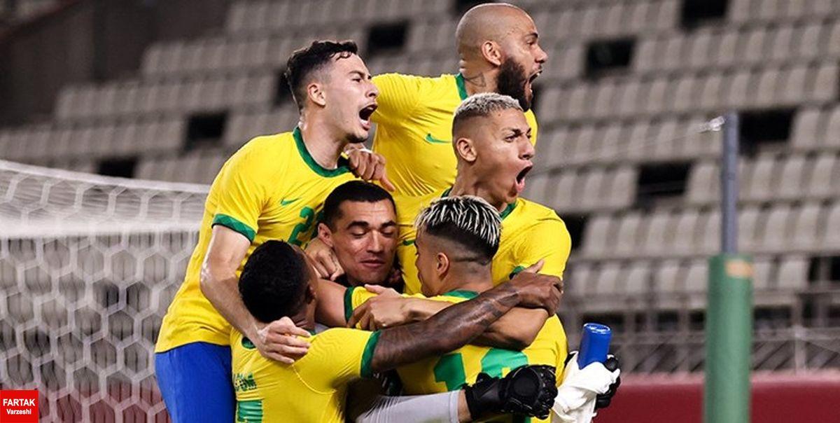 المپیک توکیو| برزیل در ضربات پنالتی فینالیست شد