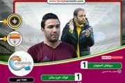 دیدار تیمهای فوتبال سپاهان اصفهان و فولاد خوزستان مساوی شد