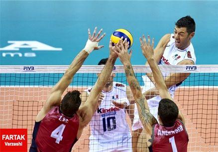 ایتالیا در مقابل آمریکا به پیروزی رسید