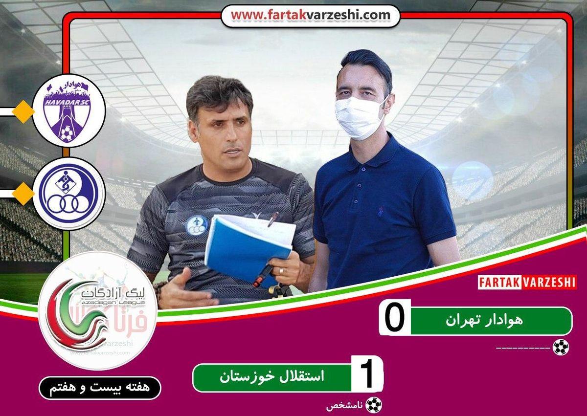 استقلال خوزستان 1 هوادار0؛ آبی پوشان خوزستان امیدوار شدند/ بدترین زمان ممکن برای شکست عنایتی و شاگردانش
