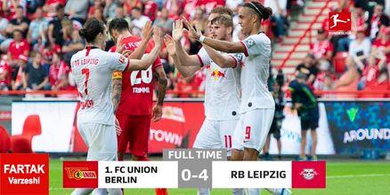 پیروزی درخشان لایپزیگ مقابل یونیون برلین