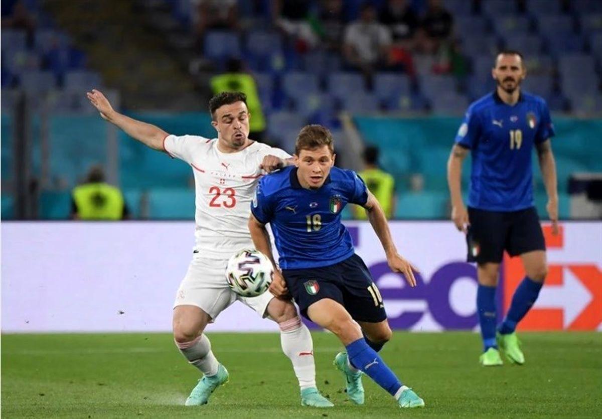 برتری ایتالیا مقابل سوئیس وقتی آمار مساوی بود