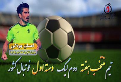 احسان جودکی؛ بهترین مدافع چپ هفته دوم لیگ یک