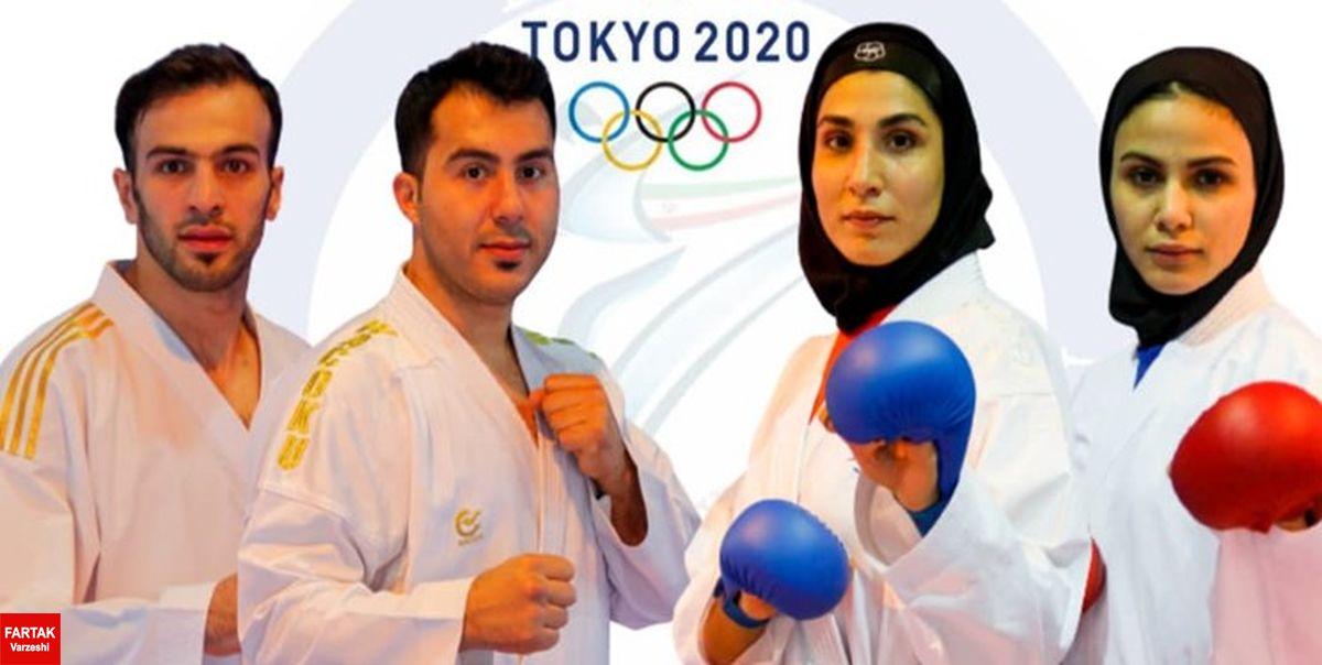 جواز حضور 4 کاراته کا کشورمان در المپیک از طریق رنکینگ صادر شد