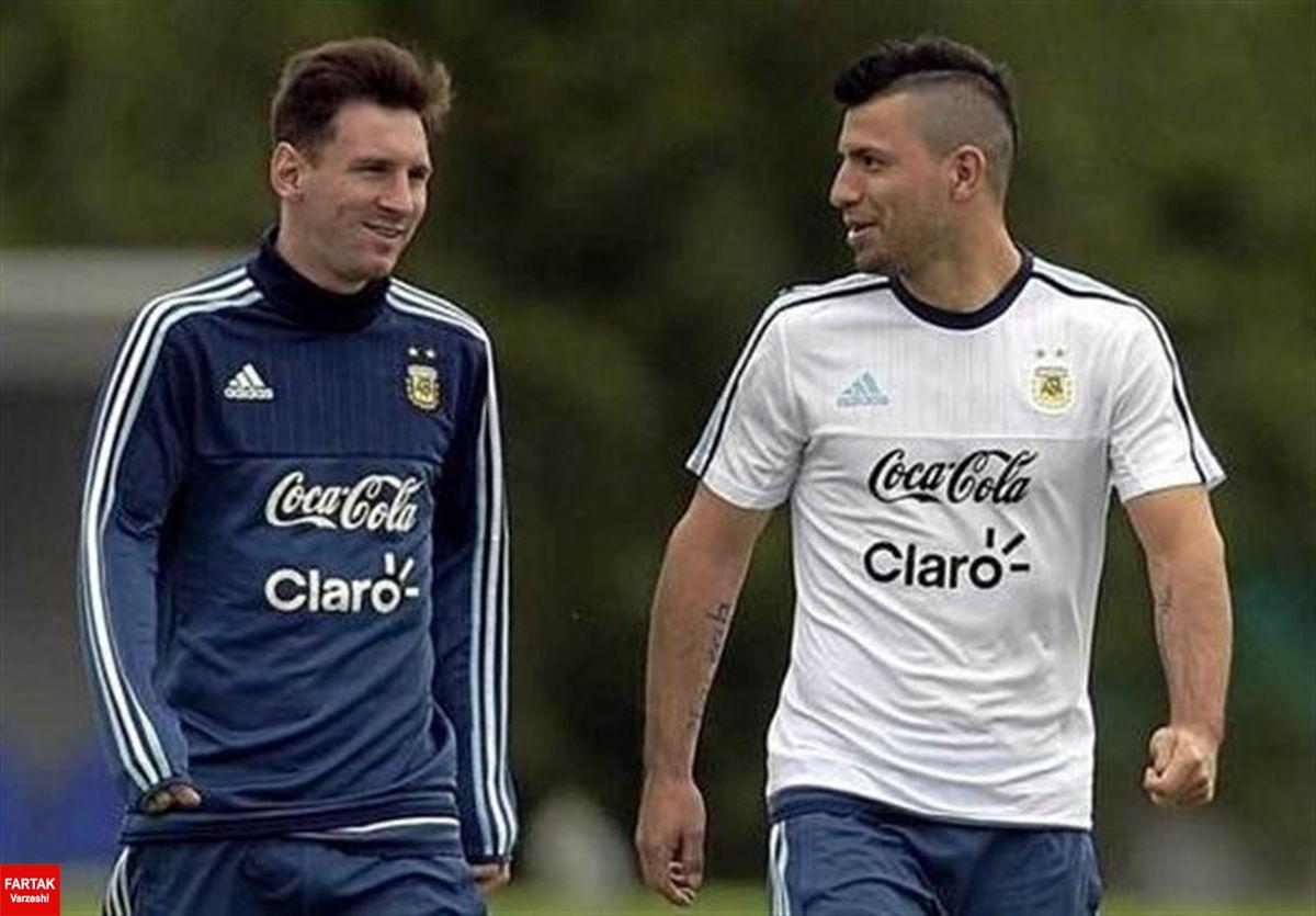 آگوئرو برای عقد قرارداد با آبی و اناریپوشان وارد بارسلونا شد