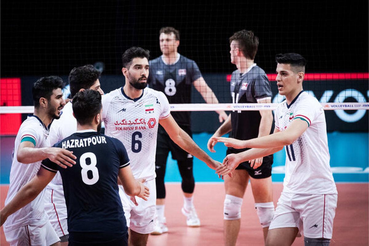 لیگ ملتهای والیبال/ ایران ۱ - ۰ آمریکا
