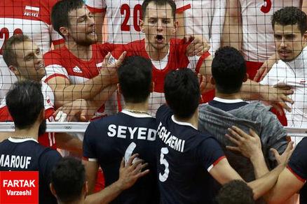 روایت خبرگزاری آلمانی از درگیری بازیکنان والیبال ایران و لهستان