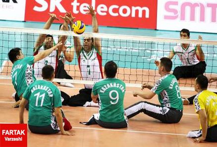 برتری 3 بر 0 تیم والیبال نشسته ایران مقابل چین