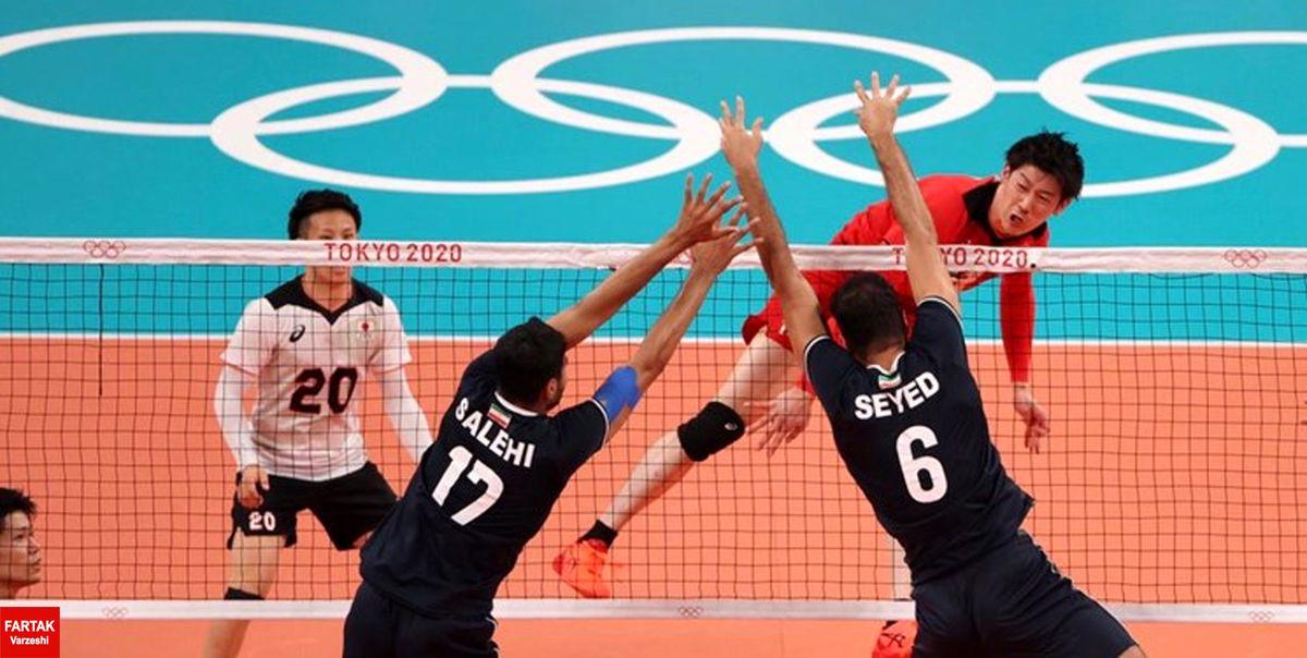 المپیک توکیو| شکست والیبال ایران مقابل ژاپن؛ آرمان والیبال محقق نشد