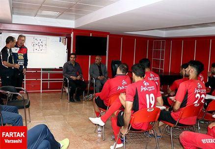 نشست ویژه سرپرست، سرمربی و مدیر تیم پرسپولیس با بازیکنان