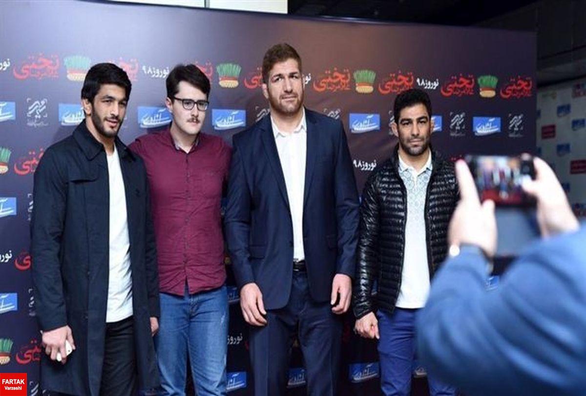 یزدانی، هادی و کریمی در اکران مردمی فیلم تختی حاضر شدند