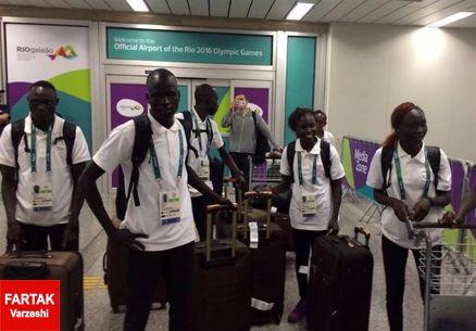 ورود تیم پناهجویان المپیک ۲۰۱۶ به دهکده المپیک