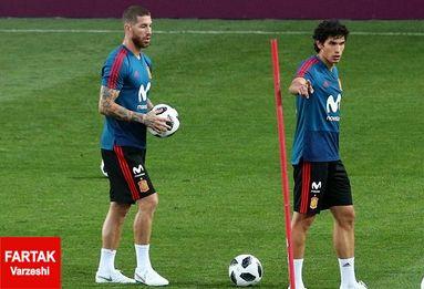 تلاش های آخر تیم ملی اسپانیا پیش از دیدار با پرتغال