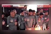 مراسم جشن تولد بازیکنان پرسپولیس در رشت + فیلم