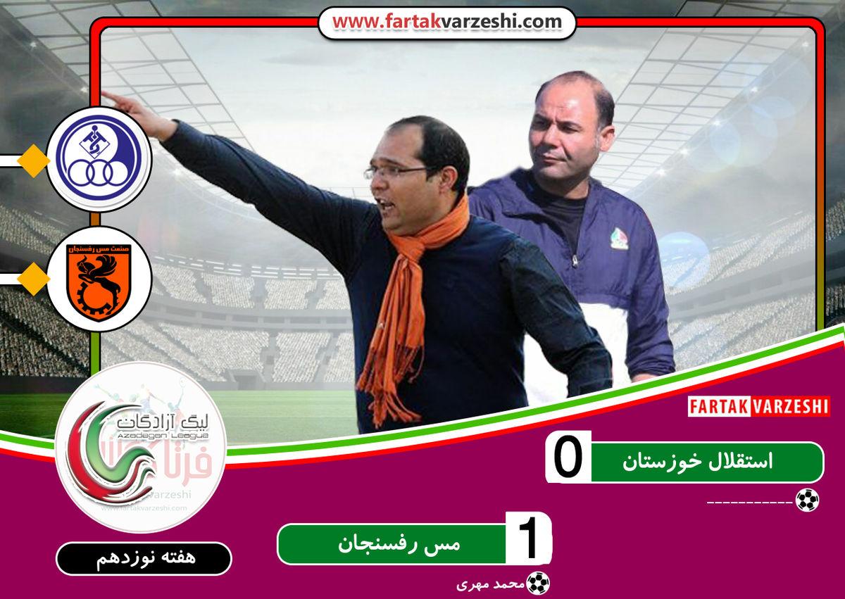 کهکشانی ها از سد استقلال خوزستان هم گذشتند/ مس رفسنجان تنها درصدر جدول