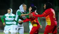زد و خورد شدید در لیگ برتر فوتبال بانوان!