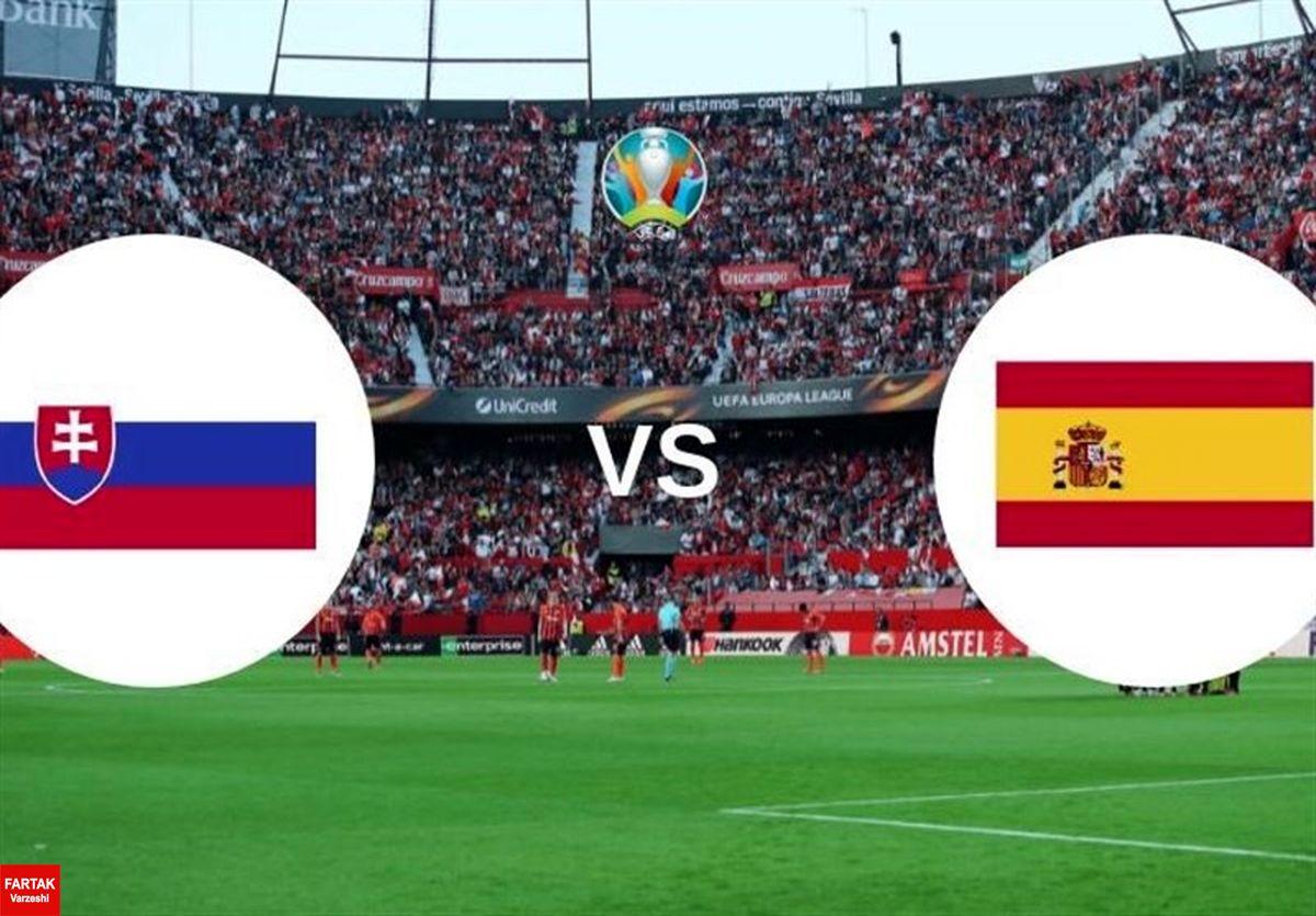 یورو ۲۰۲۰| اعلام ترکیب اسپانیا و اسلواکی/ ۴ تغییر در تیم انریکه