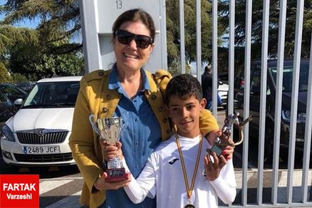 عکس/ پسر رونالدو برترین گلزن مدرسه شد