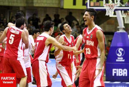 یک نیمه تا فتح جام بیست و چهارم بسکتبال برای جوانان کشورمان