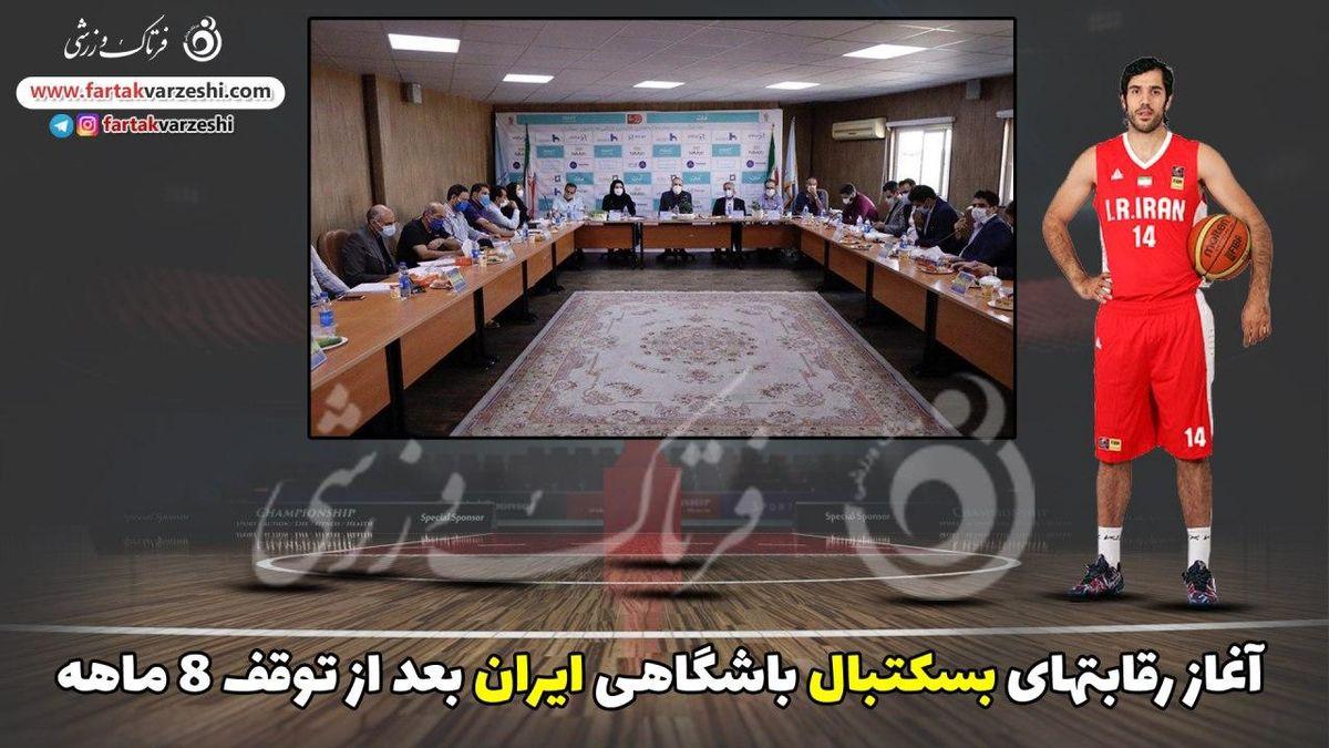 آغاز رقابتهای بسکتبال باشگاهی ایران بعد از توقف ۸ ماهه