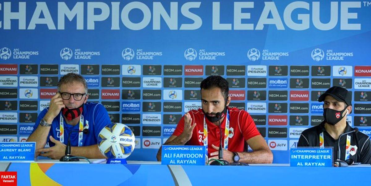 بازیکن ایرانیالاصل الریان: به دنبال بُردی روحیهبخش مقابل پرسپولیس هستیم