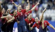 جام جهانی فوتبال زنان؛ نروژ با پیروزی در ضربات پنالتی به یک چهارم نهایی رسید