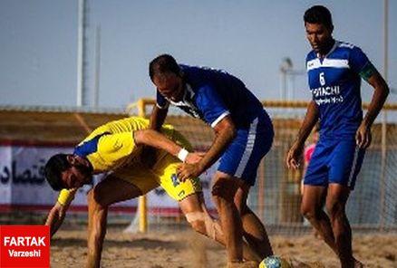 هفته دهم لیگ برتر فوتبال ساحلی برگزار شد