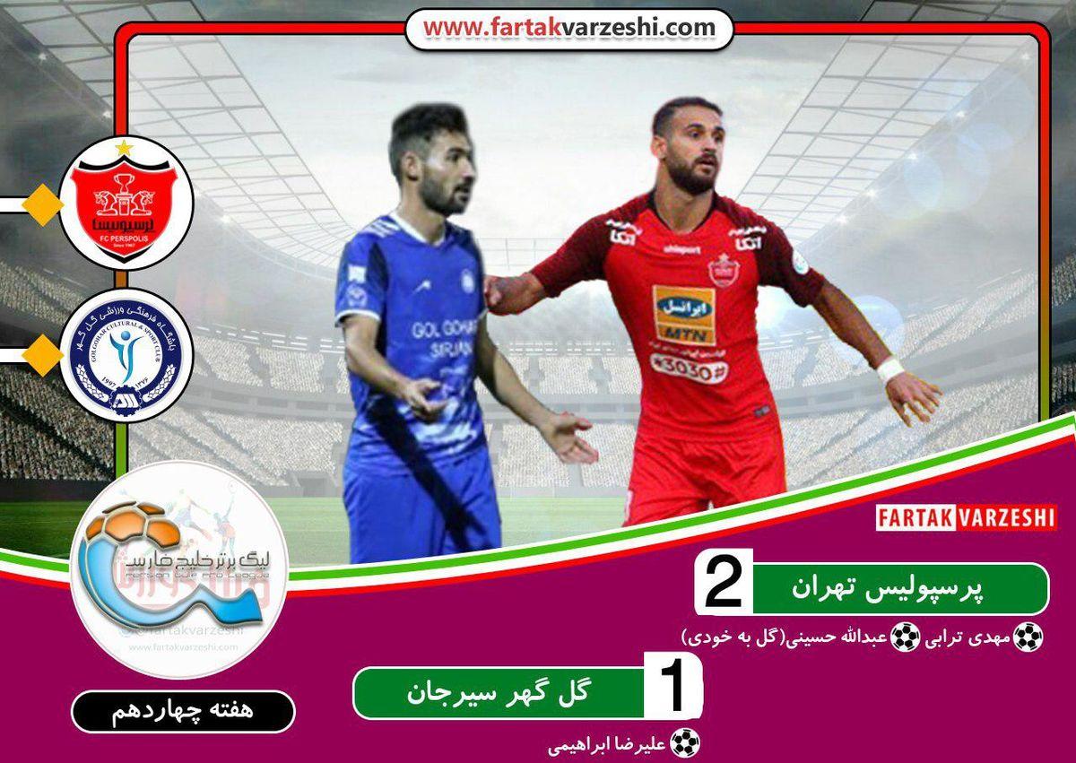 لیگ برتر فوتبال  پرسپولیس به سپاهان و یک قدمی استقلال رسید