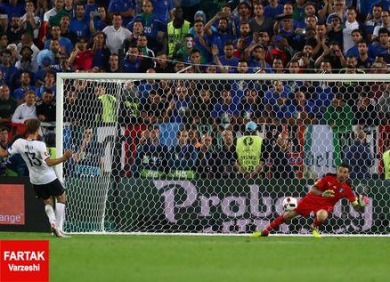 بازی آلمان-ایتالیا، رکورد پنالتی های یورو را تکرار کرد