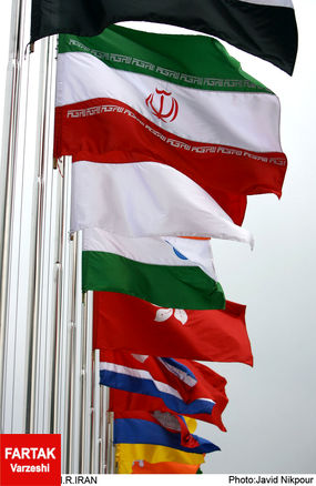 زمان اهتزاز پرچم ایران در دهکده بازی ها