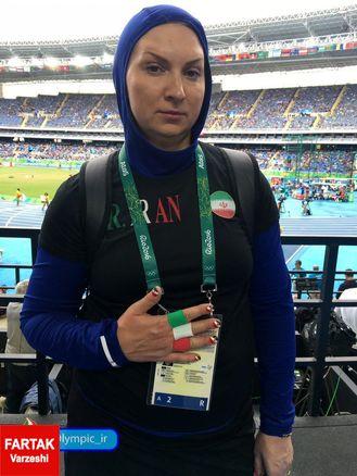 عکس/ ورزشکار با غیرت ایران