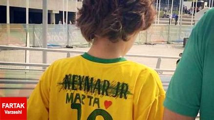 اعتراض شیک هوادار برزیل به نیمار در المپیک