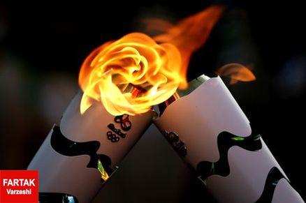 درگیری در ورود مشعل المپیک به ریو