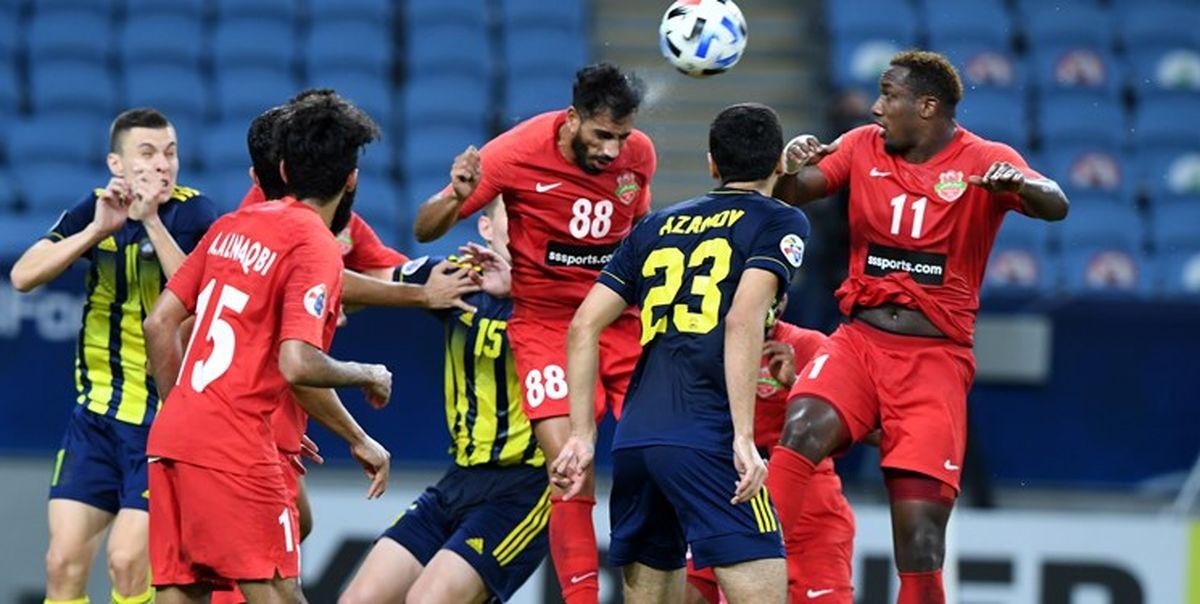 لیگ قهرمانان آسیا|صعود الهلال به عنوان صدرنشین با توقف پاختاکور مقابل شباب الاهلی