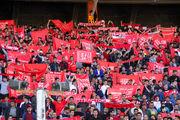 حمایت هواداران تراکتورسازی از تیم همشهری خود