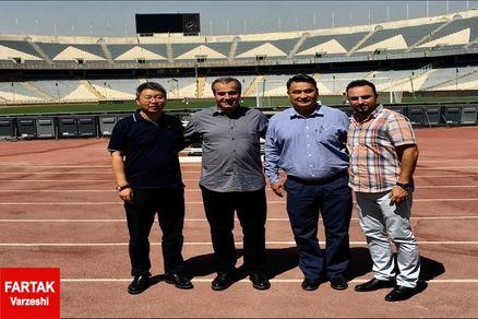 نمایندگان کنفدراسیون فوتبال آسیا به ورزشگاه آزادی رفتند