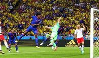 نتیجه نیمه اول از دیدار کلمبیا-لهستان