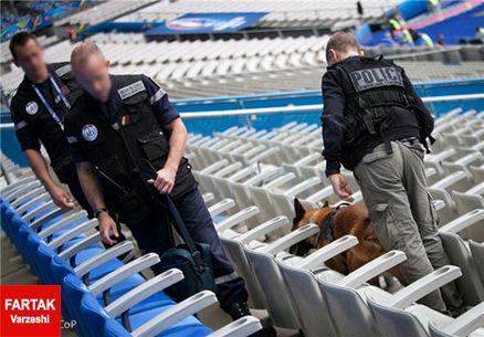 پلیسامنیتی فرانسه در استادوفرانس +عکس