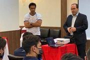 حضور رئیس هیئت مدیره باشگاه استقلال در اردوی آبیپوشان