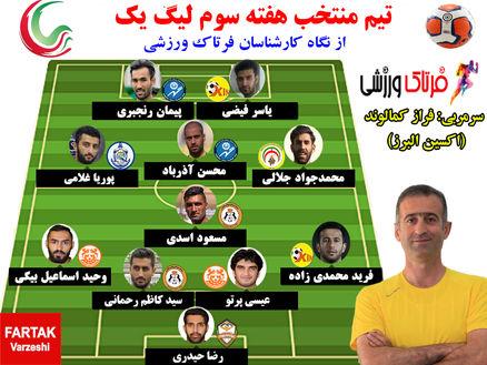 تیم منتخب هفته سوم لیگ یک + پوستر