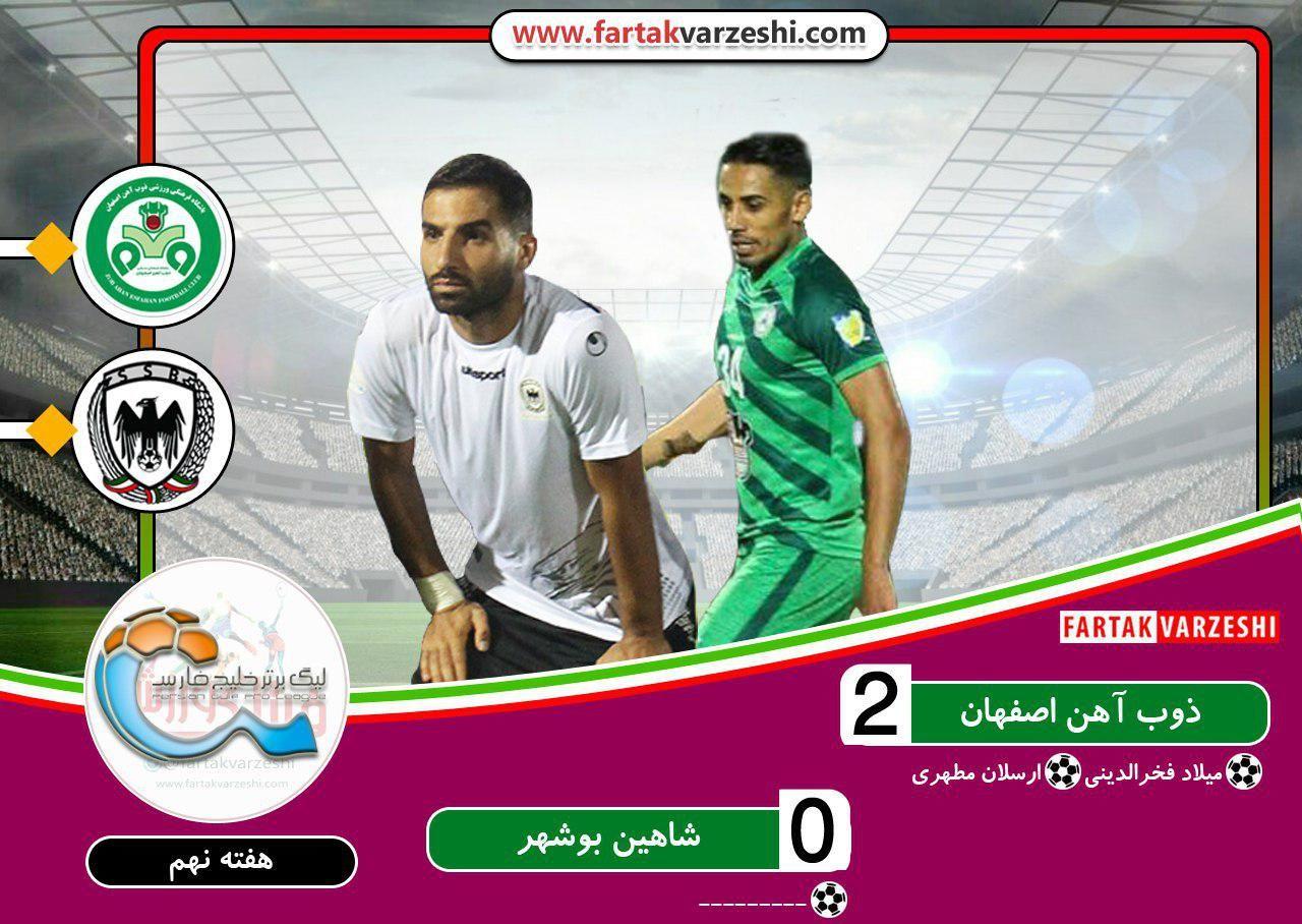 نفس راحت منصوریان/ اولین پیروزی ذوبآهن مقابل شاهین بحرانزده