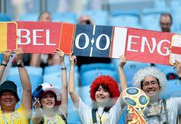 گزارش تصویری / حضور هواداران انگلیس و بلژیک در ورزشگاه