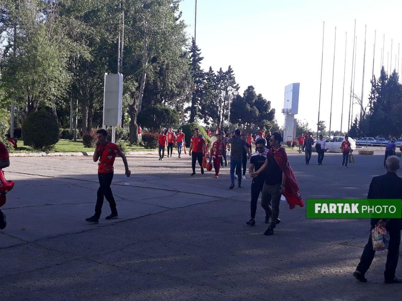 اختصاصی / گزارش تصویری چند ساعت قبل از دیدار پرسپولیس و ماشین سازی